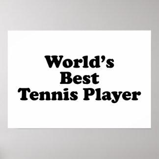 World's Best Tennis Player Poster