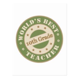 Worlds Best Tenth Grade Teacher Postcard