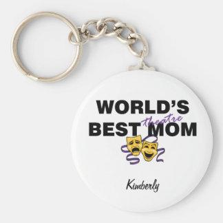 World's Best Theatre Mom Keychain