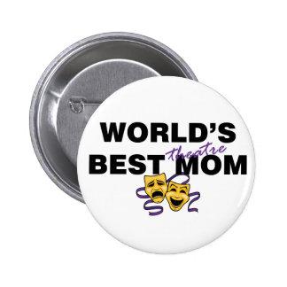 World's Best Theatre Mom Pinback Button