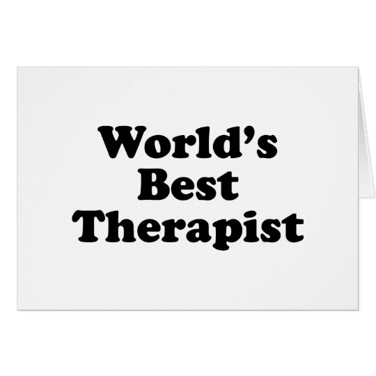 World's Best Therapist Card