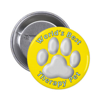 World's Best Therapy Pet 2 Inch Round Button
