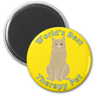 World's Best Therapy Pet Magnet