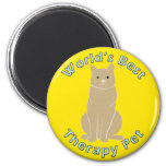 World's Best Therapy Pet Refrigerator Magnet