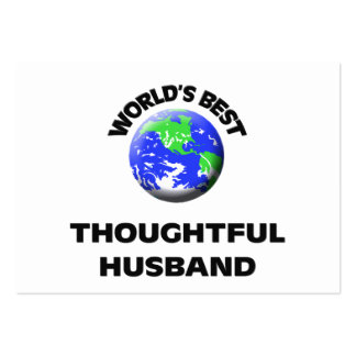 World's Best Thoughtful Husband Large Business Cards (Pack Of 100)