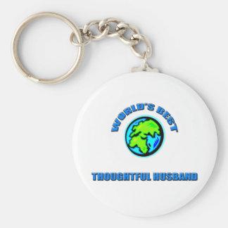 World's Best Thoughtful Husband Basic Round Button Keychain