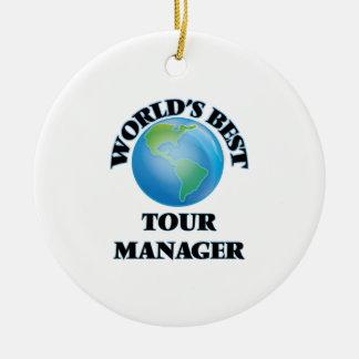 World's Best Tour Manager Ceramic Ornament