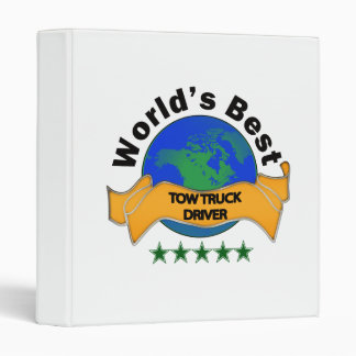 World's Best Tow Truck Driver Binder