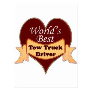 World's Best Tow Truck Driver Postcard