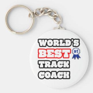 World's Best Track Coach Keychain