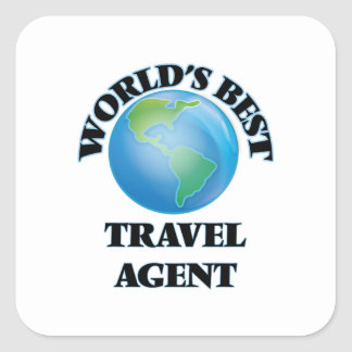 World's Best Travel Agent Square Stickers