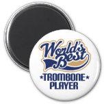 Worlds Best Trombone Player Gift Refrigerator Magnet