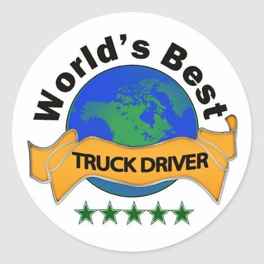World's Best Truck Driver Classic Round Sticker
