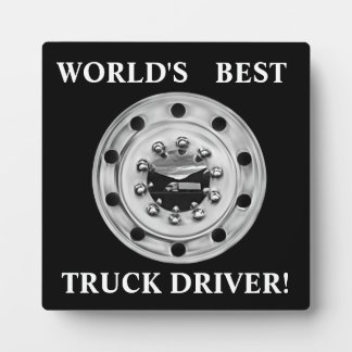 World's Best Truck Driver Plaque