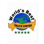 World's Best Truck Driver Postcard