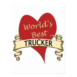World's Best Trucker Postcard