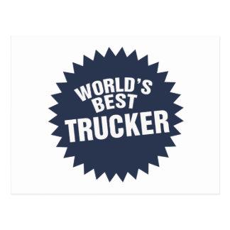 World's Best Trucker Truck Driver Hauler Post Cards