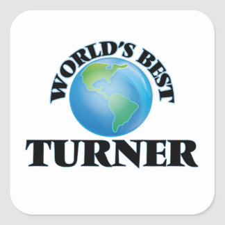 World's Best Turner Square Stickers