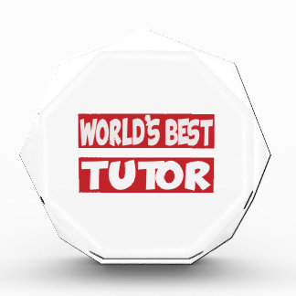 World's Best Tutor. Acrylic Award
