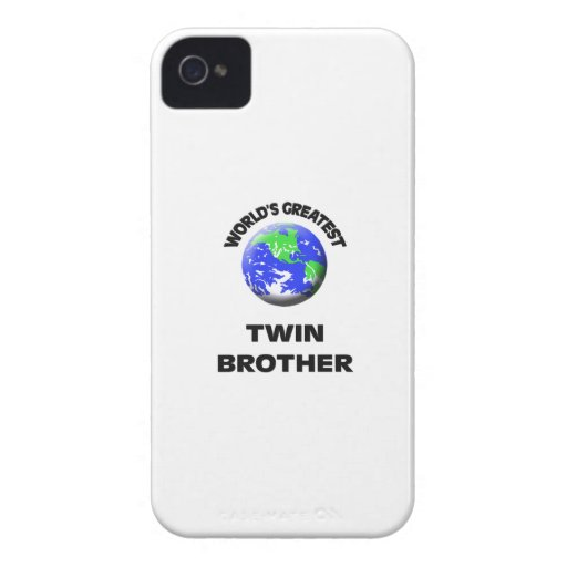 World's Best Twin Brother iPhone 4 Covers