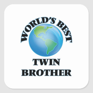 World's Best Twin Brother Square Sticker