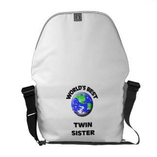 World's Best Twin Sister Courier Bags