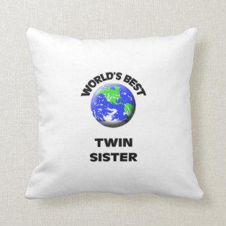 World's Best Twin Sister Pillow