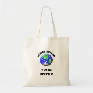 World's Best Twin Sister Tote Bag
