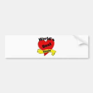 World's Best Uncle Car Bumper Sticker