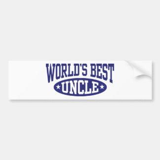 World's Best Uncle Bumper Stickers