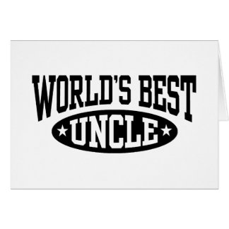 World's Best Uncle Card