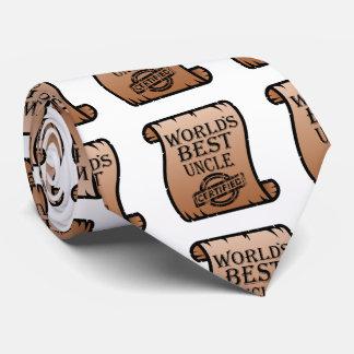 World's Best Uncle Certified Certificate Funny Neck Tie