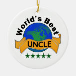 World's Best Uncle Christmas Ornament