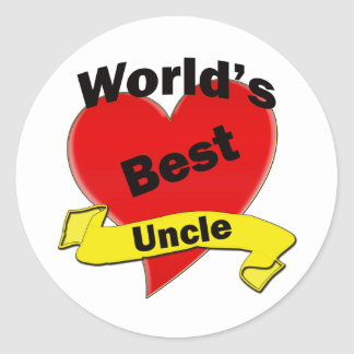World's Best Uncle Classic Round Sticker