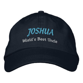 WORLD'S BEST UNCLE Custom Name NAVY BLUE A15 Embroidered Hat