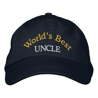 World's Best Uncle Embroidered Baseball Cap/Hat