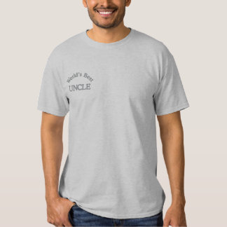 World's Best Uncle Embroidered T-Shirt