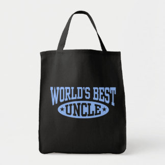 World's Best Uncle Grocery Tote Bag