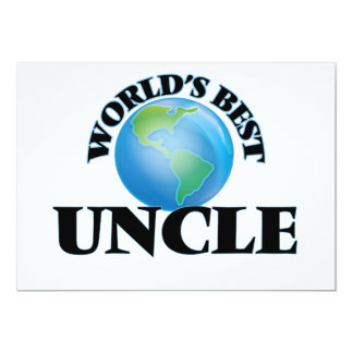 World's Best Uncle 5x7 Paper Invitation Card