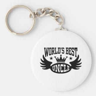 World's Best Uncle Keychain