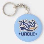 Worlds Best Uncle Keychain Gift
