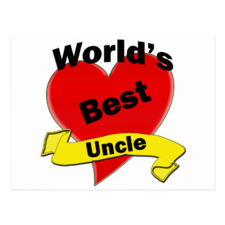 World's Best Uncle Postcard
