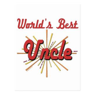World's Best Uncle Postcard