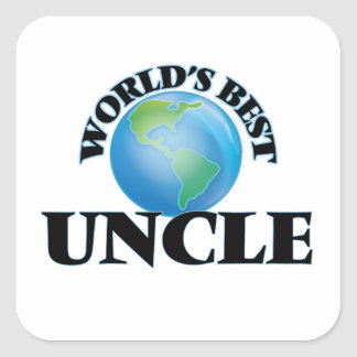 World's Best Uncle Square Sticker