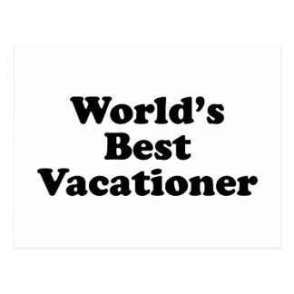 World's Best Vacationer Postcard