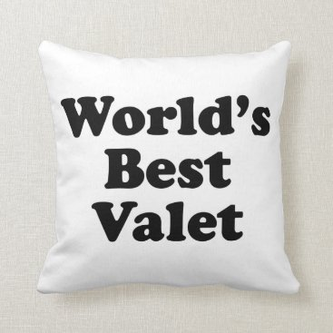 Professional Business World's Best Valet Throw Pillow