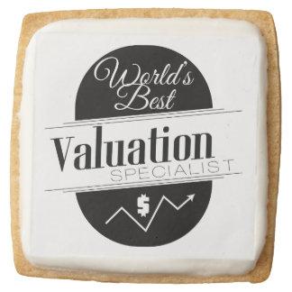 World's Best Valuation Specialist Square Premium Shortbread Cookie