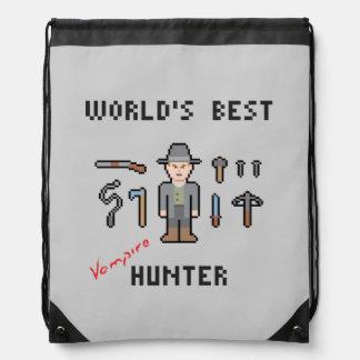 World's Best Vampire Hunter Drawstring Backpack