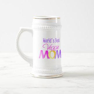 World's Best Veggie Mom Beer Stein/Mug Beer Stein