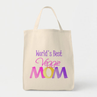World's Best Veggie Mom Grocery Tote Bag